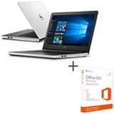 Notebook Dell, Intel Core i5-5200U, 8GB, 1 TB, Tela de 14', NVIDIA NV920 - i14-5458-B40 + Office 365 Personal