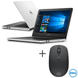 Notebook Dell, Intel Core i5-5200U, 8GB, 1 TB, Tela de 14' - i14-5458-B40 + Mouse Optico Wireless Dell - WM126