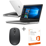 Notebook Dell, Core i5-5200U, 8GB, 1TB, 14' - i14-5458-B40 + Mouse Optico Wireless Dell - WM126 + Office 365 Personal