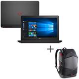 Notebook Dell i7, 16GB, 1TB+128SSD, 15,6, Gaming Edition i15-7559-A30 + Mochila Preto com Detalhes em Vermelho DE460BC