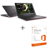 Notebook Dell, Core i7 7700HQ Quad Core, 16GB+256 GB SSD, 1TB, Tela 15,6, NVIDIA GeForce GTX i15-7567-A30P + Office 365