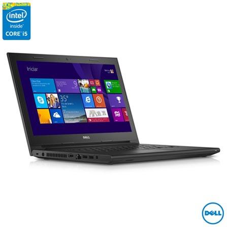 """Notebook Dell, Inte® Core™ i5 - 5200U, 4GB, 1TB, Tela de 14"""" - i14 3443-A30, Bivolt, Bivolt, Preto, 0000014.00, Não, Sim, 1 TB, 000004, Não, 1, 12 meses, 1 TB, DELL, INTEL, 4 GB, 5200U, Sim, CORE I5, Intel Core i5, WINDOWS 8.1, Windows 8.1, 14'', De 14'' a 15'', 0000014.00, LED, DVD/RW, Não, Sim"""