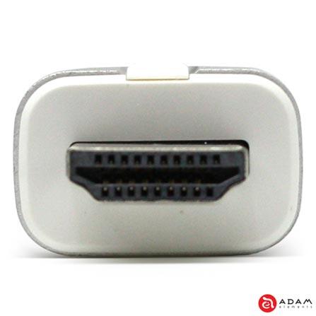 Adaptador M3 HDMI para VGA - Adam Elements - AAPADM2SL, Prata, Adaptadores, 12 meses