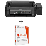 Impressora Multifuncional EcoTank L455 Jato de Tinta com USB 2.0 e Wi-Fi - Epson + Microsoft Office 365 Personal