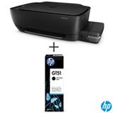 Impressora Multifuncional Deskjet GT 5822 AIO Tanque de Tinta com USB e Wireless HP + Cartucho de Tinta HP M0H57AL Preto