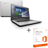 Notebook Lenovo, Core i3-6006U, 4GB, 1TB, 14'' Ideapad - 80UG0009BR + Microsoft Office 365 Personal