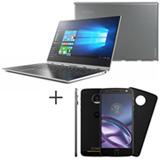 Notebook 2 em 1 Lenovo, i7, 8GB, 256GB, 13,9- 80VF006TBR + Moto Z Style Edition Preto Motorola  5,5, 64GB - XT1650-03