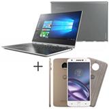 Notebook 2 em 1 Lenovo, i7, 8GB, 256GB, 13,9- 80VF006TBR + Moto Z Style Edition Branco Motorola  5,5, 64GB - XT1650-03