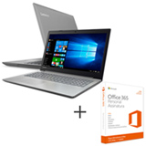 Notebook Lenovo IdeaPad 320 Full HD 15.6, i7-7500U, 16GB, 2TB - 80YH0000BR + Office 365 Personal, 01 ano de Assinatura