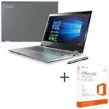 Notebook 2 em 1 Lenovo, i7, 8GB, 1 TB, Tela de14'', Platinum, Yoga 520 - 80YM0005BR + Office 365 01 ano de Assinatura