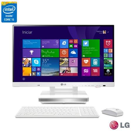 "Computador All-In-One LG, Intel® Core™ i5 4200M, 4GB, Tela 23"" - 23V545-G.BK55P1 + Antivírus LiveSafe McAfee, 0"