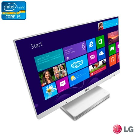 Computador All In One LG com Intel Core i5, 4GB, 1 TB de HD, Tela LCD 23