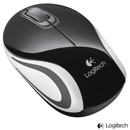 Mini Mouse Wireless Logitech M187 Preto - 910003253, Preto, Periféricos, 36 meses