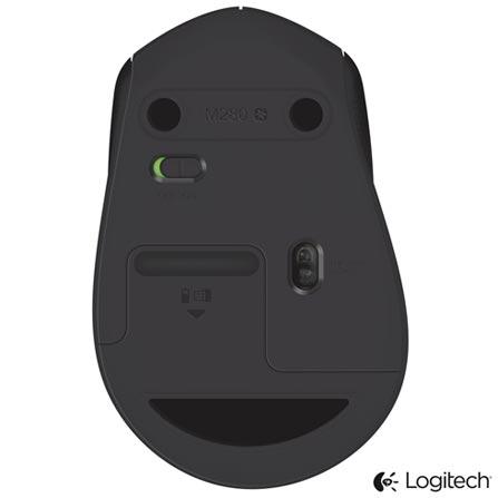 Mouse Óptico Wireless para Windows e Mac Preto - Logitech - M280, Preto, Periféricos, 12 meses