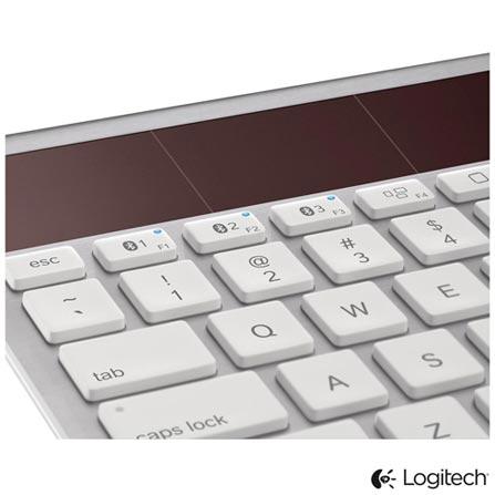 Teclado Wireless K760 Branco com Carregamento Solar Logitech - 920004417, Branco, Periféricos, 36 meses