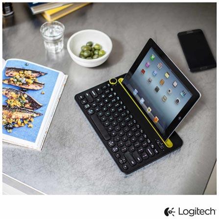 Teclado Bluetooth Multi-Device para Computadores, Tablets e Smartphones - Logitech - K480, Preto, Periféricos, 12 meses