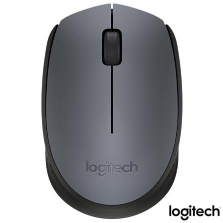 Mouse Wireless Logitech M170 para Destros e Canhotos e Sensor Óptico Cinza e Preto - 910-004425, Cinza, Periféricos, 12 meses