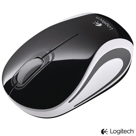 Mini Mouse Wireless Preto Logitech - M187, Preto, Periféricos, 36 meses