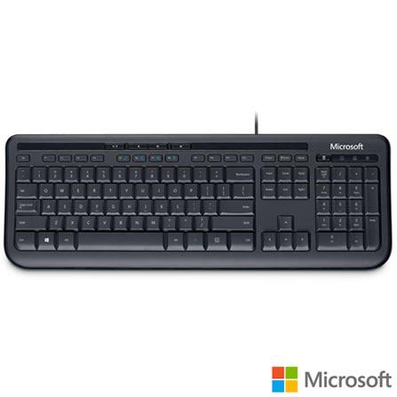 Teclado com Fio Compacto / Teclas de acesso rápido do Windows / Preto - Microsoft - ANB00005