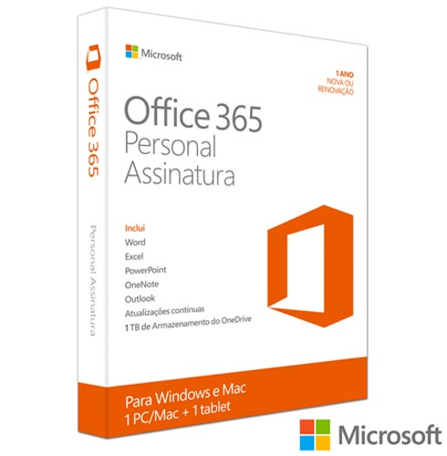 Microsoft Office 365 Personal + Carregador Portatil 4400 mAh Preto - Trust - TR-19857I, 1