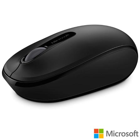 Mouse Óptico Wireless para Windows e Mac Preto - Microsoft - U7Z-00008I, Preto, Periféricos, 36 meses