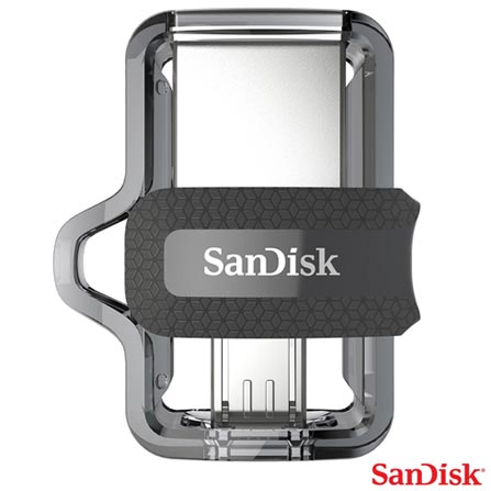 Pen Drive 32GB Sandisk Ultra Dual Drive M3.0 Preto - SDDD3-032G-G46, Preto, 60 meses