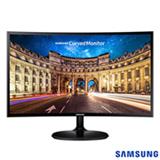 Monitor Curvo Samsung 27' FHD, HDMI, VGA, FreeSync, Preto, Série CF390
