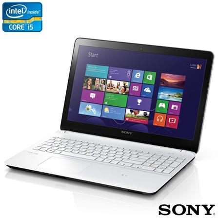 Notebook Sony VAIO Fit 15, i5, 4GB, 750GB de HD + Software de Segurança McAfee LiveSafe - MLS13B001RAA, 0