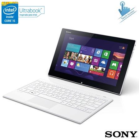 Ultrabook 2 em 1 Conversível Sony, Intel Core i5, 4GB, SSD de 128GB, Tap 11