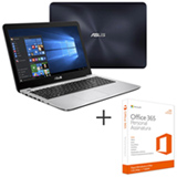Notebook Asus, Intel Core i7 - 7500U, 8GB, 1TB, 15,6'', NVIDIA GeForce 930MX - X556UR-XX477T + Office 365 Personal