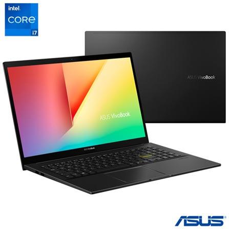 "Notebook - Asus K513eq-ej207t I7-1165g7 1.10ghz 16gb 512gb Ssd Intel Hd Graphics Windows 10 Home Vivobook 15,6"" Polegadas"