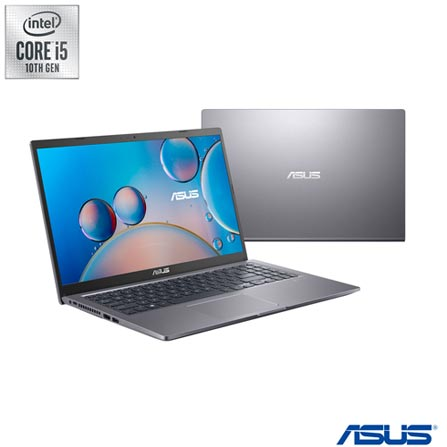 "Notebook - Asus X515ja-ej592t I5-1035g1 1.00ghz 8gb 256gb Ssd Intel Hd Graphics 620 Windows 10 Home 15,6"" Polegadas"
