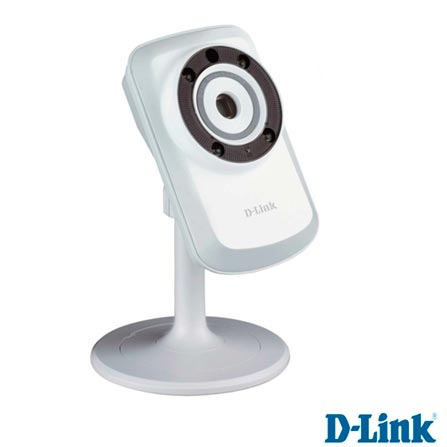 Câmera para Smartphones e Tablets com Visão Noturna e Wi-Fi Branca - D-Link - DCS-932L, Bivolt, Bivolt, Branco