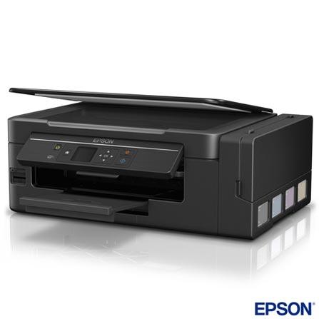 Multifuncional L495 Jato de Tinta Colorida - Epson + Carregador Portatil Universal 6200 mAh Cinza Geonav - PB6200GR, 1, Jato de Tinta