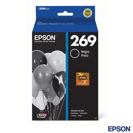 Cartucho Epson Claria® para XP-702/XP-802 Preto - T269020, Cartuchos, 03 meses