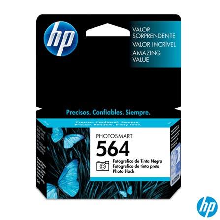 Cartucho HP 564 para impressão a Jato de Tinta Preto - 564FOTO, Cartuchos, 03 meses