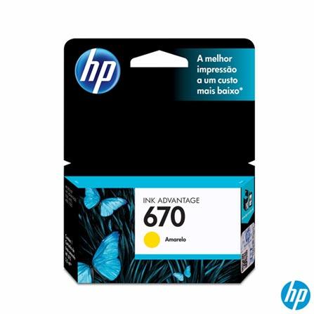 Cartucho de Tinta HP 670 Amarelo, Não se aplica, Cartuchos