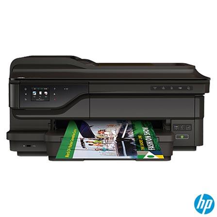 Impressora Multifuncional Officejet 7612, Jato de Tinta, com Conexão Fax, Wi-Fi - HP, Bivolt, Bivolt, USB 2.0, Ethernet, Host USB e Fax esRJ-11, Colorida, Sim, Sim, Sim, Sim, Não, Jato de Tinta, Touch, 15 ppm, Sim