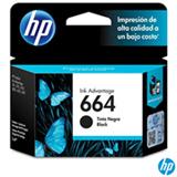Cartucho de Tinta HP 664 para HP DeskJet Ink Advantage 1115, 2136, 3636, 3836, 4536 e 4676 Preta