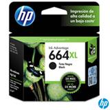 Cartucho de Tinta HP 664XL para HP DeskJet Ink Advantage 1115, 2136, 3636, 3836, 4536 e 4676 Preta