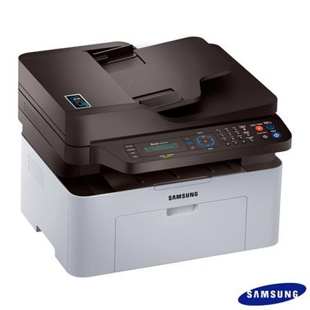 Multifuncional Samsung Laser 4 em 1, Monocromática, Wi-Fi, NFC, Branca e Preta - M2070FW, Branco e Preto, Monocromática, Sim, Sim, Sim, Sim, Não, Laser, 21 ppm, Sim