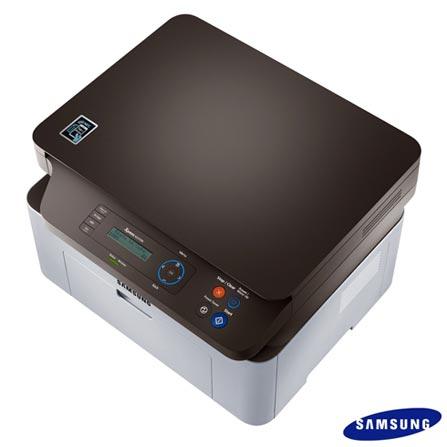 Multifuncional Samsung a Laser com Wi-Fi e NFC - M2070W, 110V, Branco e Preto, Monocromática, Sim, Não, Sim, Sim, Não, Laser, 21 ppm, Sim