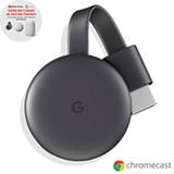 Chromecast 3 Google para TV e Conexão HDMI - GA00439-BR