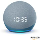 Echo Dot (4ª geração) Smart Speaker Amazon com Relógio e Alexa Azul
