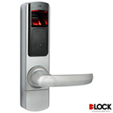 Fechadura Biométrica Mifare Stand Alo D-lock Capacidade de até 120 senhas Prata e Preto - DL4500STD