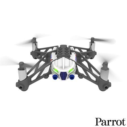 Minidrone Airborne Cargo Parrot com Foto em VGA e Bluetooth Smart Branco - PF723301, Branco, 12 meses, 20 m, Não especificado, 18 km/h, 09 minutos