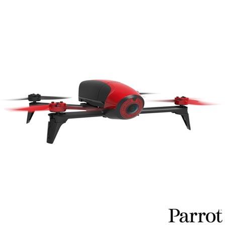 Drone Bebop2 Parrot com 8 Hélices e Alcance de até 300 m, Vermelho - PF726000, Vermelho, 12 meses, 300 m, 22 km/h, 65 km/h, 25 minutos