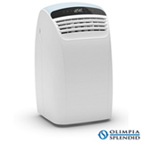 Ar Condicionado Portátil Piu Silent Olimpia Splendid com 12.000 BTUs, Quente e Frio, Função Turbo, Branco e Cinza