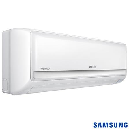 Ar Condicionado Split Max Plus Samsung com 12.000 BTUs, Quente e Frio, Branco - AR12KPFUAWQNAZ, Split, Quente e Frio, 12.000 BTUs, Sim, Sim, 600 m³/min, 38 dBA / 21 dBA, Sim, Sim, Não, Sim, Sim, 1086 W, 22,8 kWh/mês, 12 meses, 12.000 a 18.500 BTUs, A
