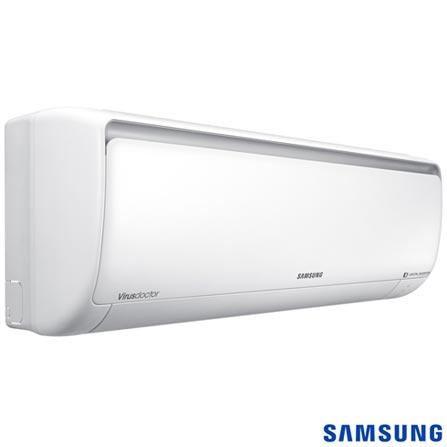 Ar Condicionado Split Samsung com 18.000 BTUs, Quente e Frio, Branco - AR18KSSPSGMNAZ, 12.000 a 18.500 BTUs, A, 18.000 BTUs, Quente e Frio, 31,8 kWh/mês, Sim, Não especificado, Sim, Sim, Sim, 12 meses, 36 dBA / 24 dBA, 1515 W, Sim, Sim, Sim, Split, 828 m³/min